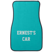 Purple Aqua Tangerine Curly Cues Car Mats