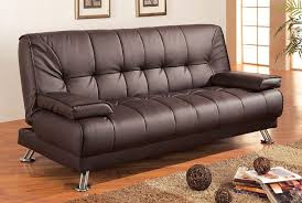 Intex Queen Sleeper Sofa Amazon by Coaster Futon Sofa Bed With Removable Arm Rests Brown Vinyl Amazon