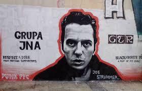 Joe Strummer Mural Address by Love Of The Game Meet The Belgrade Football Fans Making Partizan