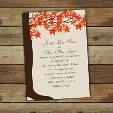 Affordable Fall Wedding Invitations