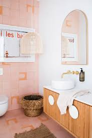 three birds renovations house 10 powder room pink tiles