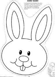 Bunny Head With Ears Coloring Page