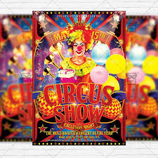Circus Show Premium Flyer Template Instagram Size 1