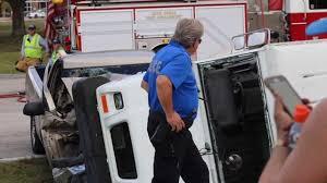 100 Postal Truck Fire Truck Overturns In Cape Coral Crash
