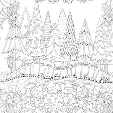 Enchanted Forest Coloring Pages Artist Garden Flower Colouring Adult Detailed Advanced Printable