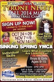 Ymca Gym Sinking Spring Pa by Tyrone Nesby Fall 2014 Mini Camps Nes B Sports