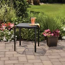 Mainstays Patio Set Red by Mainstays Wrought Iron Stackable Side Table Black Patio