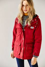 penfield kasson mountain parka coat in red lyst