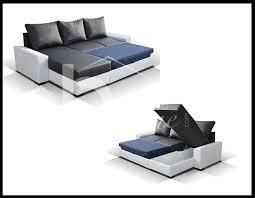 coffre canapé canape d angle bicolore avec coffre et couchage
