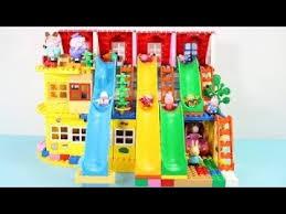 peppa pig blocks mega house jouets pour enfants lego duplo maison