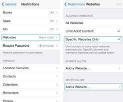 How to block website on iPhone safari iOS 8 7 iPad iPod
