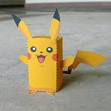 Paper Craft Pikachu Box Figure Finger Puppet Pokemon