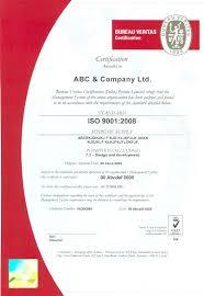 bureau veritas latvia certificate and hologram