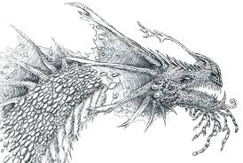 Print Realistic Dragon Chinese Coloring Pages