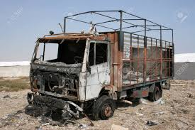100 Burnt Truck And Abandoned In The Field Stock Photo Picture And