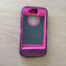75% off OtterBox Other Pink and Purple Otterbox iPhone 4 4S Case