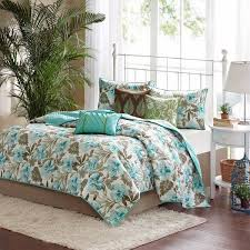 shop madison park martinique teal brown bed covers the home