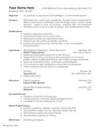 Sample Resume For Warehouse Assistant Manager Wareho