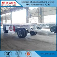 China 20FT/40FT Flatbed Truck Trailer/Semi Trailer - China Full ...