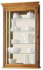 miller oak finish mounted wall display cabinet 685106 montreal