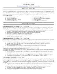 Resume Sample For Administrative Assistant Example On Job Examples