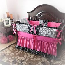 Pink Crib Bedding by Pleasant Pink And Black Crib Bedding Sets Best Home Decorating