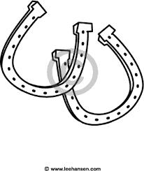 Horseshoe Stencil Printable