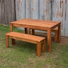 Carencro Style Outdoor Table And Benches