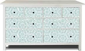 banjado möbelaufkleber passend für ikea hemnes kommode 8 schubladen selbstklebende möbelfolie sticker perfekt für wohnzimmer und