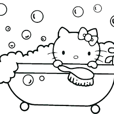 Christmas Hello Kitty Coloring Pages Beautiful Printable And Little Angel Listen To