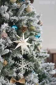 Silver Tip Christmas Tree Artificial by Our Teal Green Silver And White Vintage Inspired Flocked