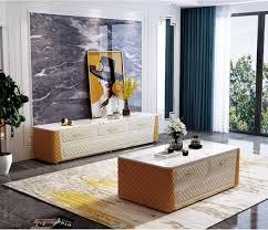 ovaler couchtisch design wohnzimmer tisch marmor imitation leder wohnzimmer neu