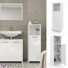 details zu vicco badschrank kiko 95 x 30 cm weiß hochglanz midischrank bad schrank badregal