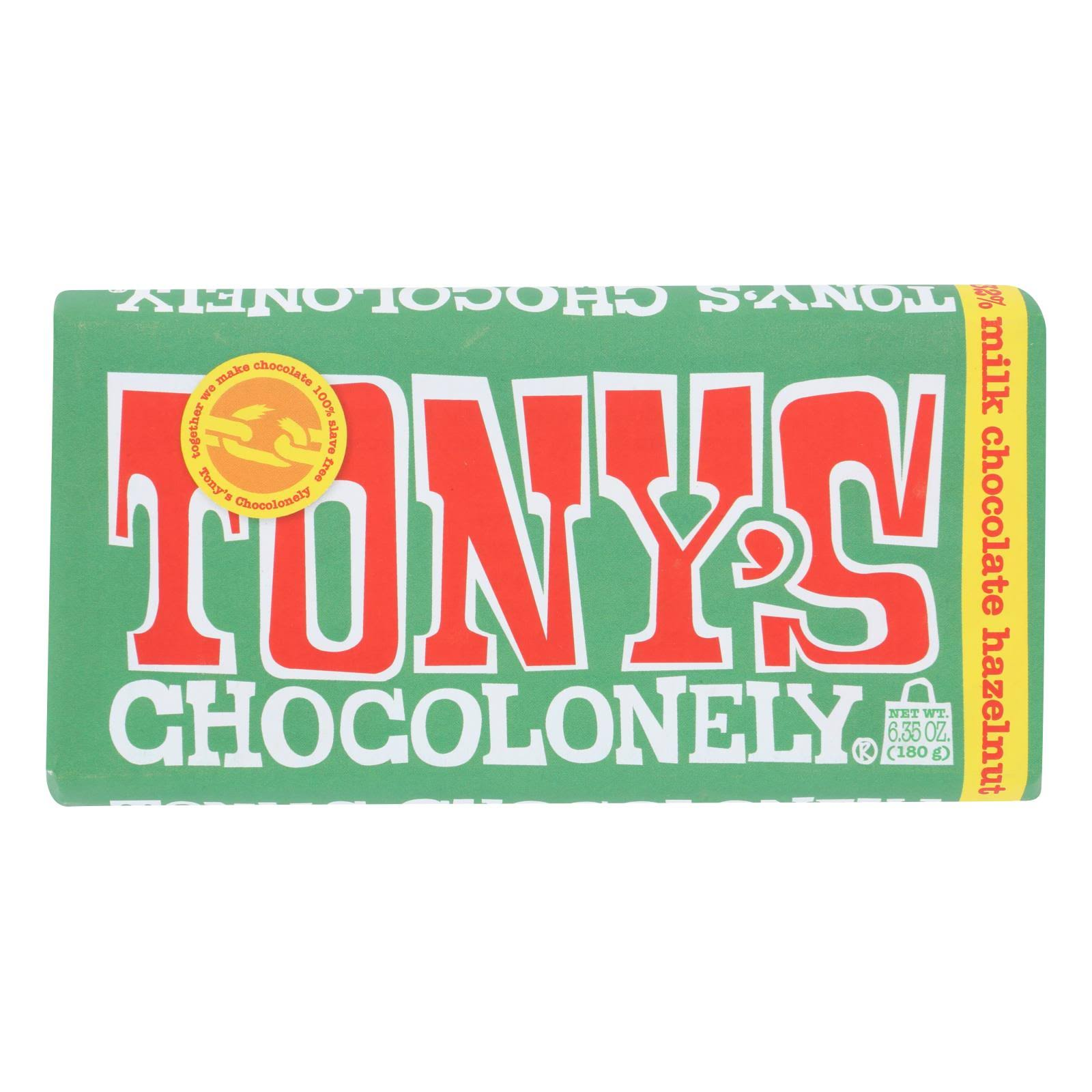 Tonys Chocolonely Milk Chocolate, Hazelnut, 32% Cocoa - 6.35 oz