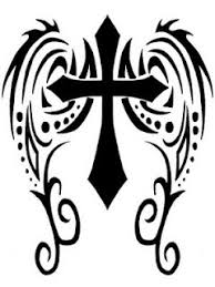 Thinking Of Adding Some Wings To My Cross Tribal Tattoo