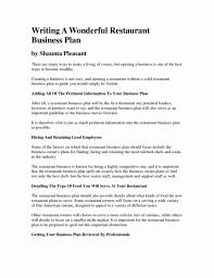 Business Plan For Restaurant Template Columbiaconnections Org A Ppt Awesome Resume Examples 2018 7