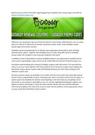 Godaddy Renewal Coupons By Jaya - Issuu Godaddy Renewal Coupon Promo Code 85 Off Aug 2019 Coupons 2017 Hosting Review 20 Off Namecheap In August Godaddy 50 November 2018 Get 40 A Free Xyz Domain Name At 123reg Spring Codes 1mo 99 Discounts 2019s For Save Renewal Code Promo Aliveuponcom Coupon Codes Upto 80