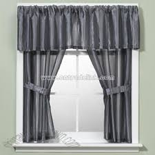 andre stripe blue window curtain valance bathroom window curtains