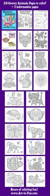 Groovy Animals Coloring Pages PDF