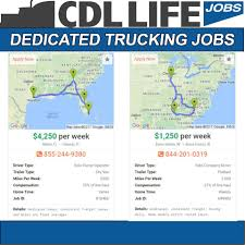 100 Dedicated Trucking Jobs CDLLife