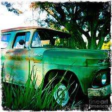 My Chevy Is A Big Green Truck Photograph By Nina Prommer