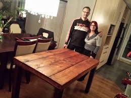 table en bois de cuisine table de cuisine en bois de grange centenaire bois de grange