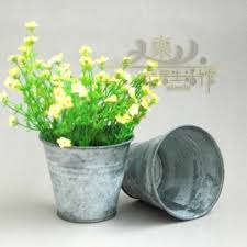 Get Quotations Rustic Vintage Home The Tin Bucket Flower Meat Pot Vase Fashion Modern