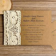 Best Of Country Lace Wedding Invitations Or Rustic Affordable 95