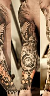 Good Clock Tattoo Sleeve Designs 65 With Additional
