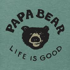 Mens Papa Bear Long Sleeve Crusher Tee