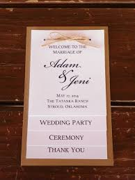 Wedding Program Party Thank You Card Four Tiered Rustic