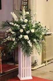 church wedding flower arrangment