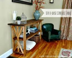 RUSTIC X BASE CONSOLE TABLE
