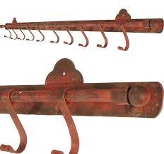 Rustic Metal Wall Hook Bar